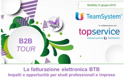 Scaduto:Evento: Convegno gratuito – La Fatturazione Elettronica B2B – Molfetta 21 Giugno 2018
